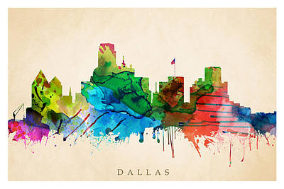 Digital Art - Dallas Cityscape by Steve Will