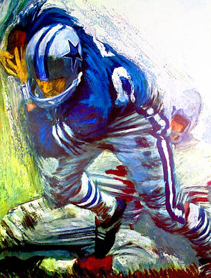National Football League Painting - Dallas Cowboys 1966 Vintage Print by John Farr