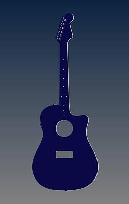 Dallas Cowboys Guitar Print by Joe Hamilton