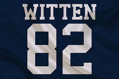 Dallas Cowboys Jason Witten Art Print by Joe Hamilton