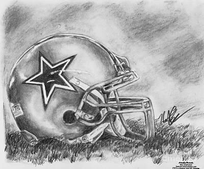 Dallas Drawing - Dallas Cowboys by Nathaniel Bostrom
