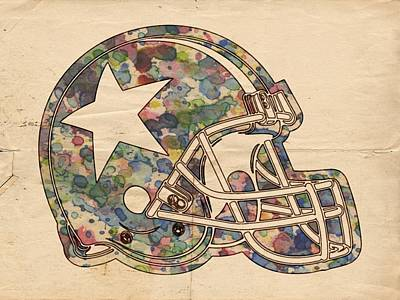 Painting - Dallas Cowboys Poster Vintage by Florian Rodarte