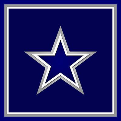 Sports Paintings - Dallas Cowboys by Tony Rubino