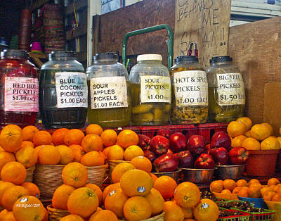 Photograph - Dallas Farmers Market - Pickels? by Allen Sheffield