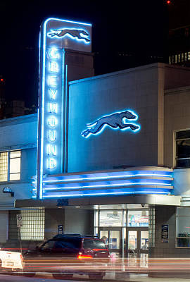 Photograph - Dallas Greyhound V2 020915 by Rospotte Photography