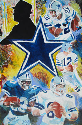 Troy Smith Painting - Dallas Legends  by Jon Baldwin  Art
