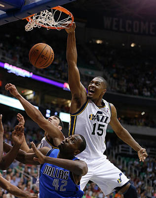 Photograph - Dallas Mavericks V Utah Jazz by George Frey