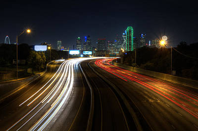 Dallas Skyline Photograph - Dallas Night Light by Jonathan Davison