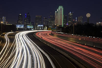 Dallas Skyline Wall Art - Photograph - Dallas Night by Rick Berk