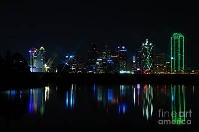 Metroplex Photograph - Dallas Reflections by Charles Dobbs