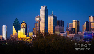Dallas Skyline Photograph - Dallas Skyline by Inge Johnsson