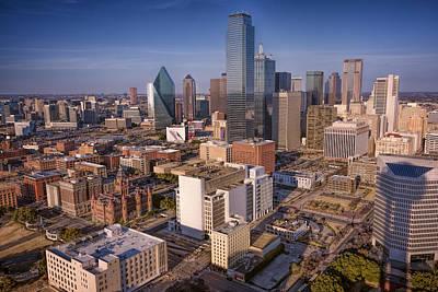 Dallas Skyline Art Print by Joan Carroll