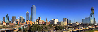 Photograph - Dallas Skyline Panorama by Ricky Barnard