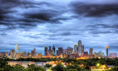 Dallas Skyline Art Print by Shawn Everhart