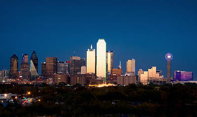 Photograph - Dallas Skyline Summer V2 by Rospotte Photography