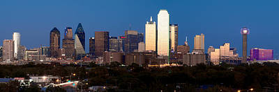 Photograph - Dallas Skyline Sunset by Rospotte Photography
