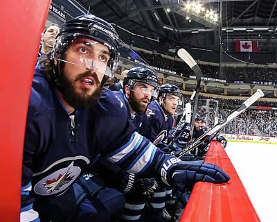Photograph - Dallas Stars V Winnipeg Jets by Jonathan Kozub