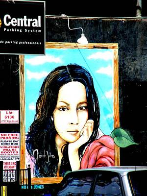 Photograph - Dallas Street Art - Nora Jones In Deep Ellum by Charlie Brock