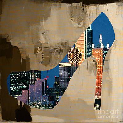 Dallas Texas Skyline In A Shoe. Art Print