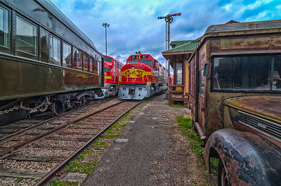 Photograph - Dallas Train Museum by Thomas Hall