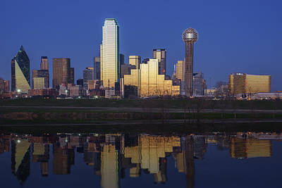 Skylines Royalty-Free and Rights-Managed Images - Dallas Twilight by Rick Berk