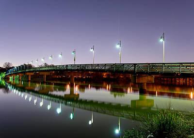 Dallas Photograph - Dallas White Rock Lake Pedestrian Bridge by Rospotte Photography