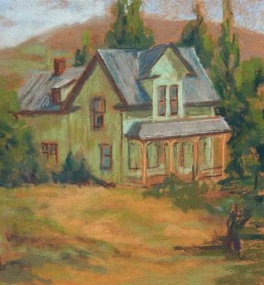 Pastel - Dalles Farm House by Marlene Kingman