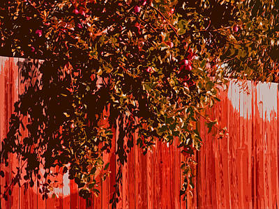 Photograph - Dallesport Apple Fence					 by Jacqueline  DiAnne Wasson
