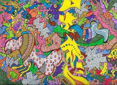 Dalliance Of Colors Art Print by Jason Savedoff