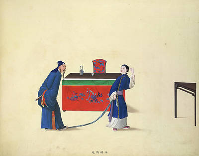 Illustration Technique Photograph - Dallying With Feng In A Tavern by British Library