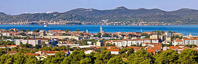Photograph - Dalmatian City Of Zadar Panoramic View by Brch Photography