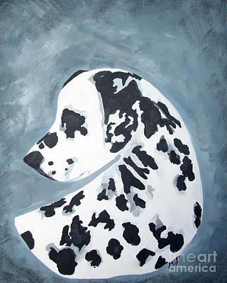 Headstudy Painting - Dalmatian by Jacki McGovern