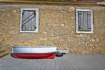 Photograph - Dalmatian Old Boat Street View by Brch Photography