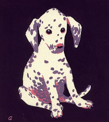 Dalmatian Puppy Art Print by George Adamson