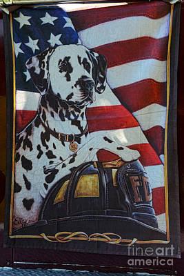 Dalmatian The Firefighters Mascot Art Print