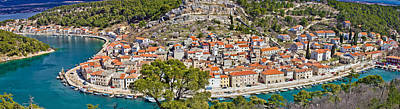 Photograph - Dalmatian Town Of Novigrad Panoramic by Brch Photography