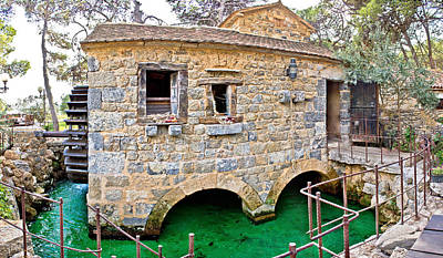 Photograph - Dalmatian Village Traditional Stone Watermill by Brch Photography