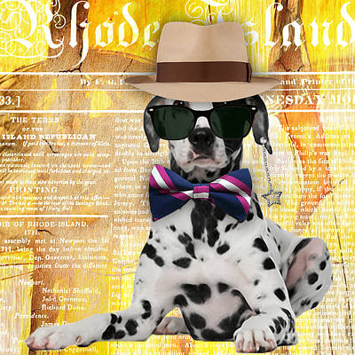 Puppies Mixed Media - Dalmatian Bowtie Collection by Marvin Blaine