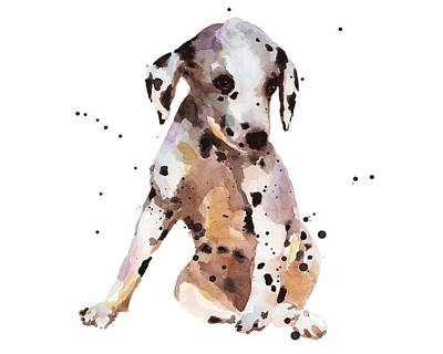 Dog Breeds Painting - Dalmation Dude by Alison Fennell