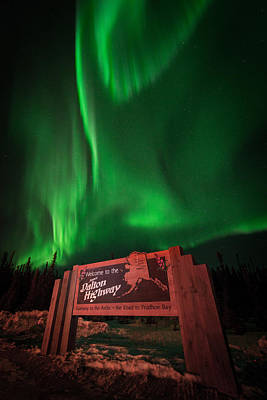 Photograph - Dalton Highway Aurora by Roger Clifford