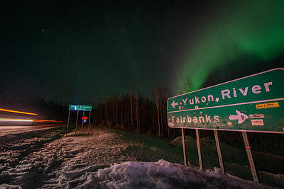 Photograph - Dalton Road Sign Aurora by Roger Clifford