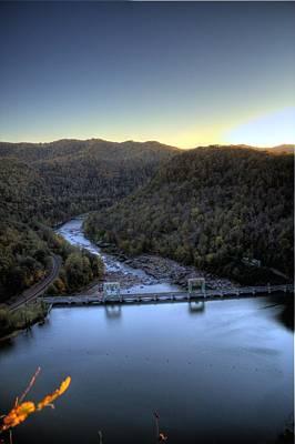 Art Print featuring the photograph Dam Across The River by Jonny D