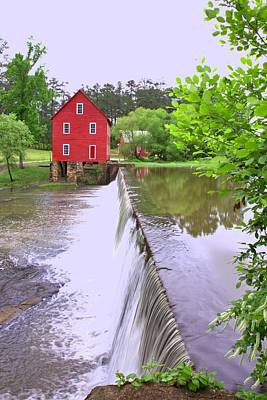 Dam At Starrs Mill Art Print