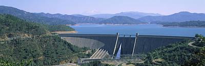 Dam On A Lake, Shasta Dam, Shasta Lake Art Print by Panoramic Images