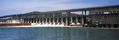 Dam On A River, Chickamauga Dam Art Print by Panoramic Images