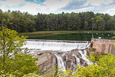 Chasm Lake Photograph - Dam On The Ottauquechee River by John M Bailey