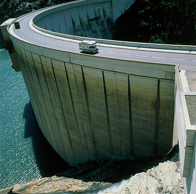 Dam Used For Hydroelectric Power Generation Art Print by Science Photo Library