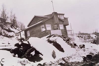 Damage Caused By Alaska Earthquake 27/3/1964 Art Print