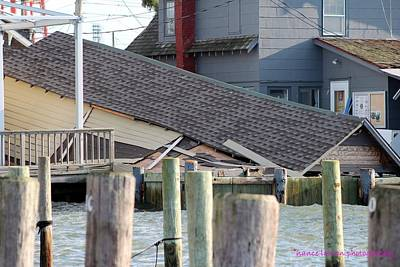 Photograph - Damage From Superstorm Sandy by Nance Larson