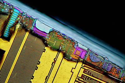 Microchip Photograph - Damaged Computer Ram Module by Antonio Romero